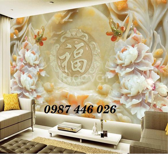 Gạch tranh 3d- tranh ốp tường phòng khách (ảnh 5)