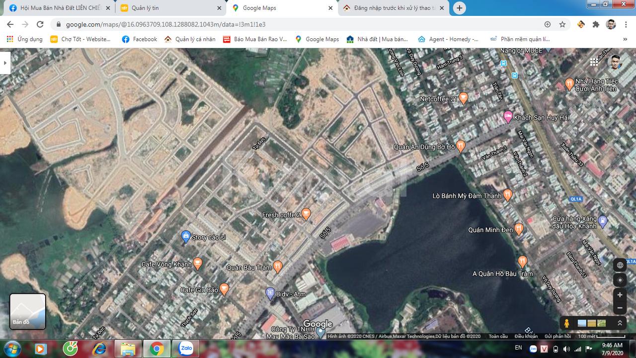 Đất mặt tiền đường 7m5,lề 4m khu Hoà Khánh mở rộng