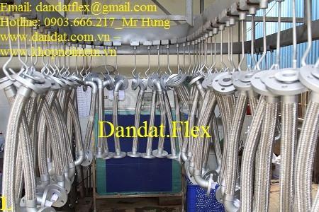 Khớp nối mềm inox nối bích DN25, Khớp nối chống rung mặt bích inox