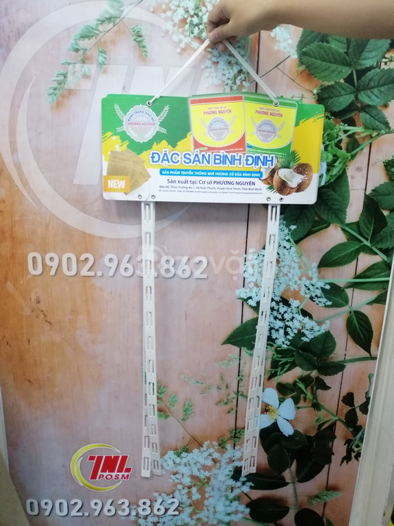 Hanger dây nhựa, vỉ treo dây nhựa quảng cáo, hanger POSM (ảnh 6)