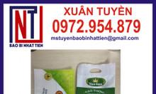 Bao bì gạo 1kg ghép màng PA/PE in ống đồng