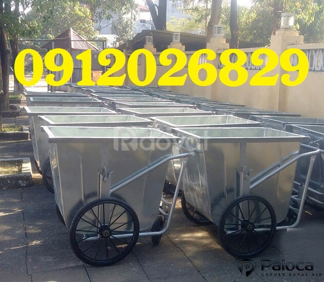 Báo giá xe thu gom rác 400 lít của Hành Tinh Xanh rẻ thị trường