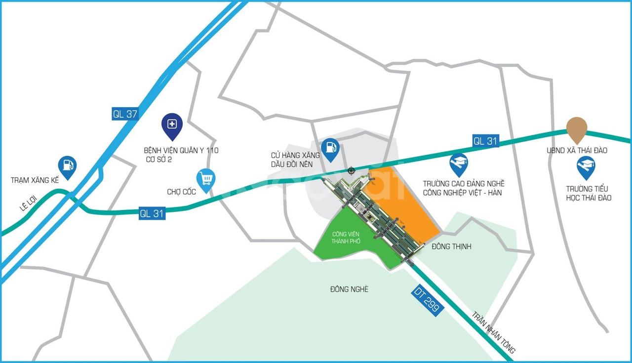 Đất nền sổ đỏ khu đô thị 299 Dĩnh Tri thành phố Bắc Giang (ảnh 4)