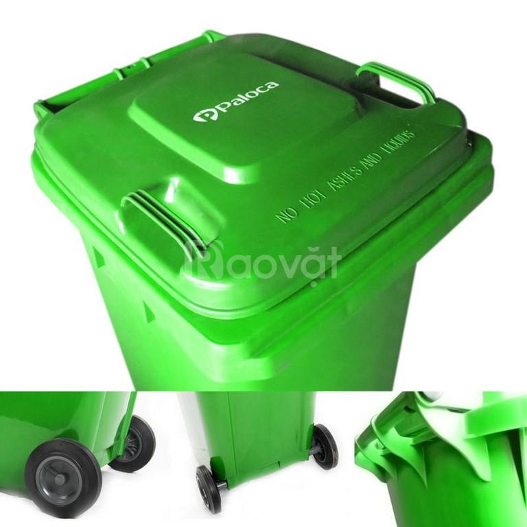 Thùng rác nhựa nắp kín hàng tốt, giá rẻ, BH lâu dài
