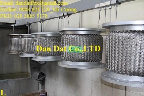 Báo giá nhanh Khớp nối mềm inox nối bích chịu nhiệt cao DN100x300