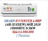 Máy lạnh Sharp Inverter 1 HP Thái Lan