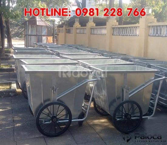 Địa chỉ cung cấp xe tôn gom rác 500 lít giá rẻ Hà Nội, Tp.HCM