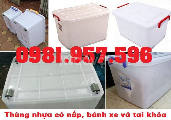 Thùng nhựa 15L, thùng nhựa 30L, thùng trắng có bánh xe (ảnh 5)