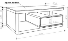 Bàn trà phòng khách hiện đại GHS-4152