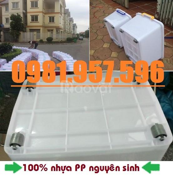 Thùng nhựa 15L, thùng nhựa 30L, thùng trắng có bánh xe (ảnh 4)
