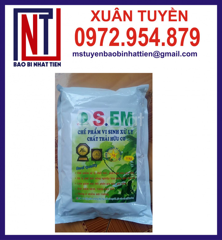 Túi nhôm 3 biên đựng nông dược, thuốc bảo vệ thực vật