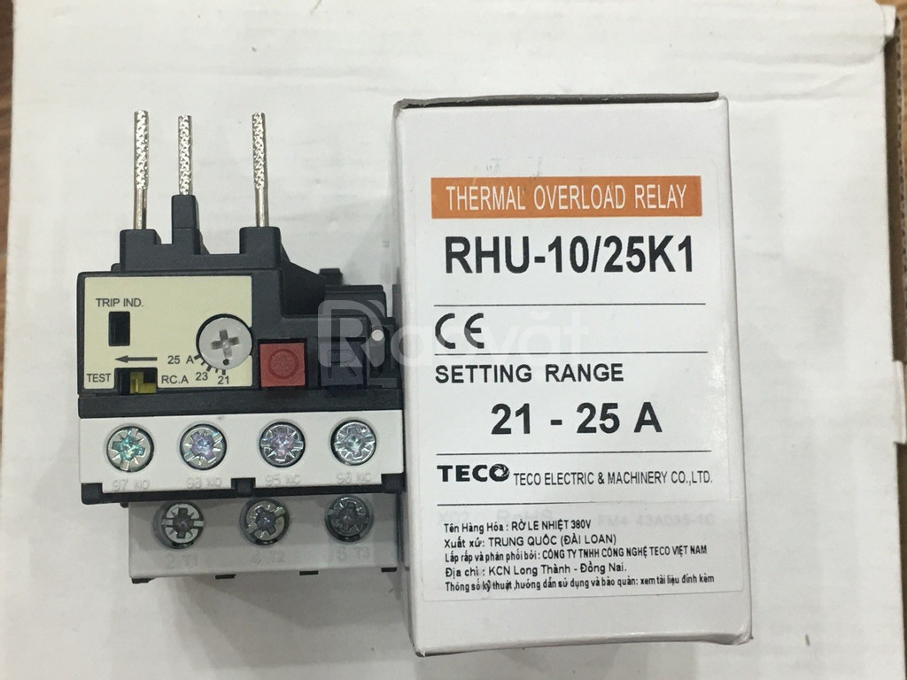 Ro le nhiệt Teco RHU-10/25K1