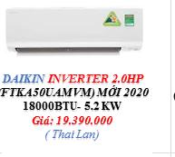 Máy lạnh Daikin Inverter -  FTKA - 1 HP