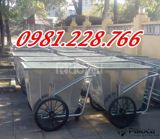 Xe chuyên dụng thu gom rác thải Xe đẩy rác 400l