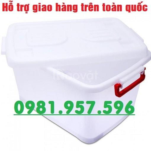 Thùng nhựa 15L, thùng nhựa 30L, thùng trắng có bánh xe (ảnh 1)