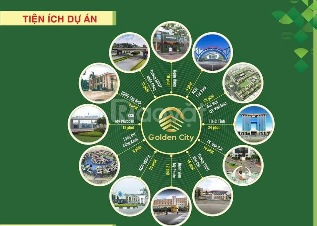 Dự án khu đô thị Phương Toàn Phát – Golden City, thổ cư 100%,SHR