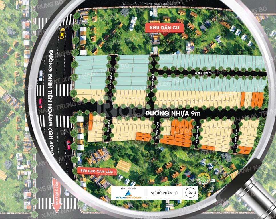 Chính chủ bán 2 lô đất 100m2 mặt tiền đường Đinh Tiên Hoàng, Cam Lâm