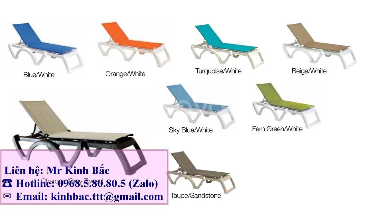 Ghế Grosfillex, ghế nằm hồ bơi, ghế tắm nắng Grosfillex ghế tắm nắng