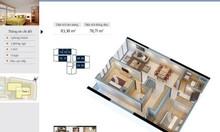 Cho thuê căn hộ 2 pn, nội thất cơ bản ở Goldmark City