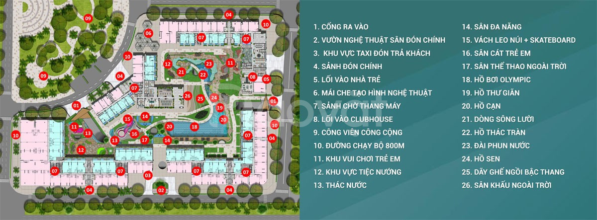 Bán căn hộ 2PN - 2WC với 50 tiện ích đầy đủ trong khu dân cư