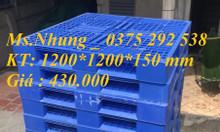 Pallet nhựa 1200*1200*150 mm hàng đã qua sử dụng