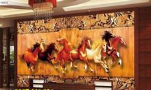 Tranh phong thủy, tranh ngựa, gạch ốp tường