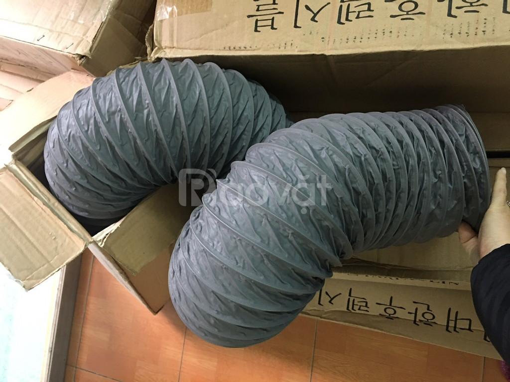 Ống gió mềm vải, ống gió vải, ống vải Tarpaulin D100 thông gió, khí. (ảnh 1)