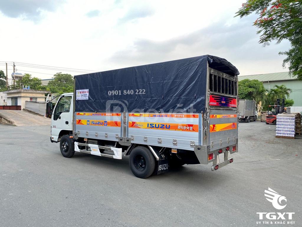 Isuzu QKR270 thùng bạt 4m3 trả góp lên tới 80%