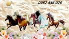 Tranh phong thủy, tranh ngựa, gạch ốp tường (ảnh 4)