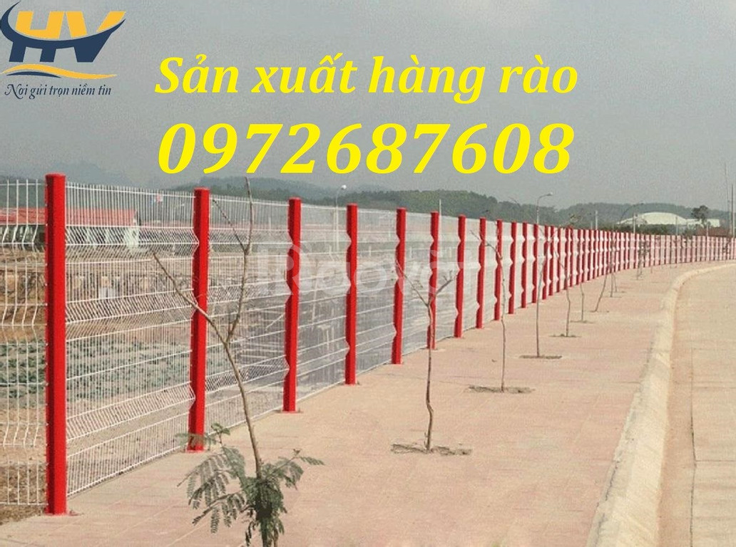 Hàng rào chấn sóng lưới thép hàn, hàng rào di động