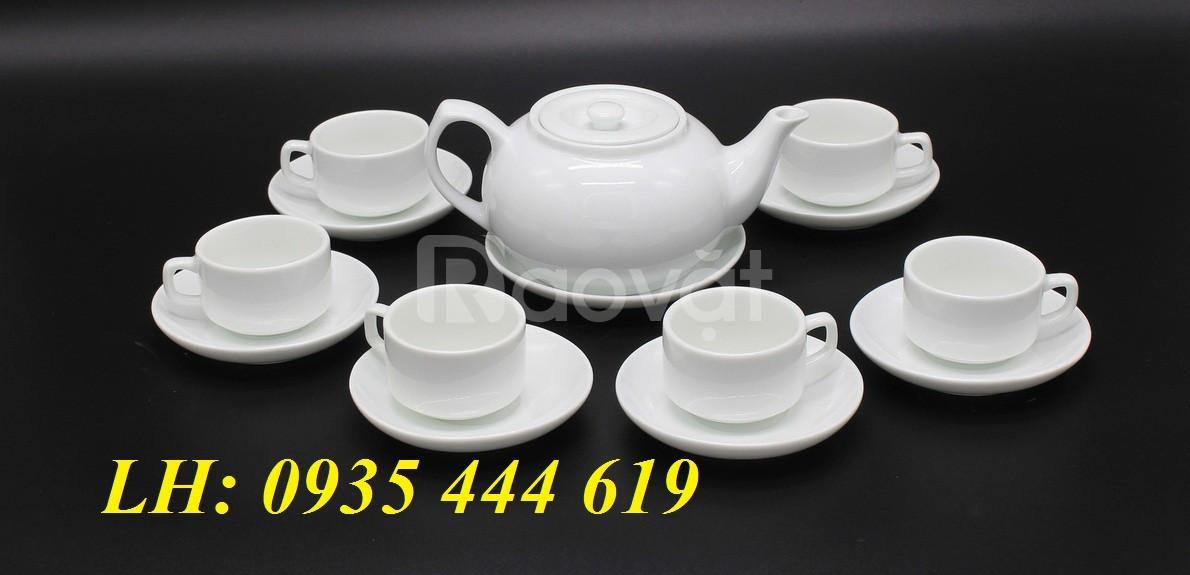 Ấm trà in logo theo yêu cầu làm quà tặng khách hàng tại Quảng Ngãi