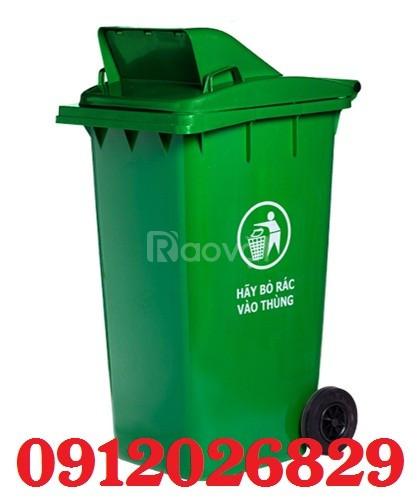 Thùng rác nhựa nắp hở 120L tiện dụng - giá rẻ (ảnh 1)