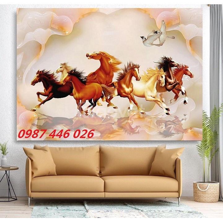 Tranh phong thủy, tranh ngựa, gạch ốp tường (ảnh 6)