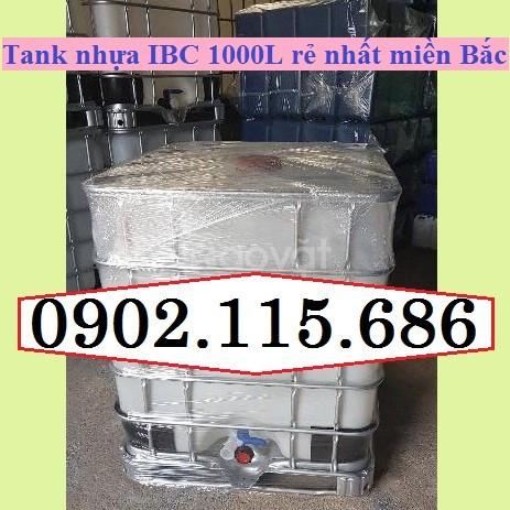 Tank IBC mới, tank IBC 1000l mới, tank nhựa mới giá rẻ, tank đựng hóa