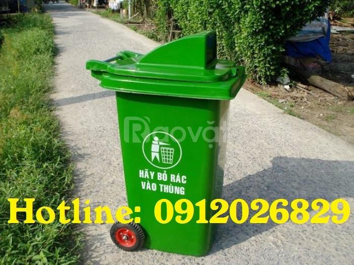 Thùng rác nhựa nắp hở 120L tiện dụng - giá rẻ (ảnh 4)