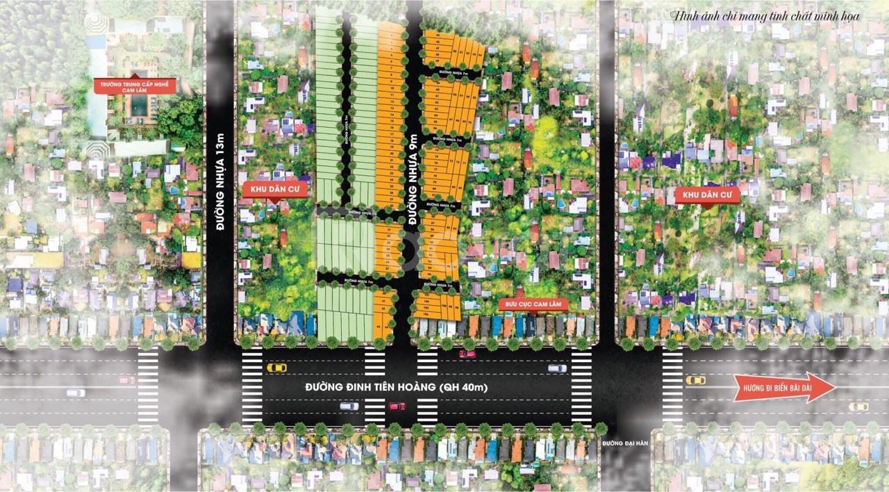 Đất nền cao tốc Bắc Nam Cam Lâm Cam Ranh chỉ 1,2 tỷ/nền
