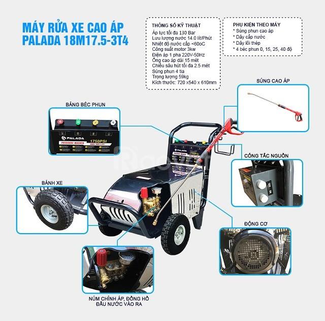 Máy bơm rửa xe Palada 18M17.5-3T4