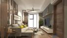 Thiết kế nội thất chung cư 2 phòng ngủ theo phong cách hiện đại đơn  (ảnh 4)