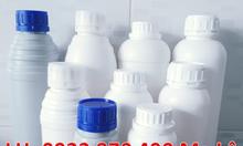 Chai nhựa 1 lít tròn đựng hóa chất giá rẻ, giá vỏ chai nhựa 500ml