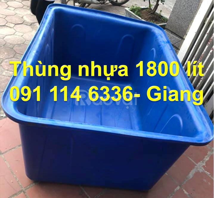 PP thùng nhựa hình chữ nhật nuôi giống cá, thùng nhựa 3000 lít tròn