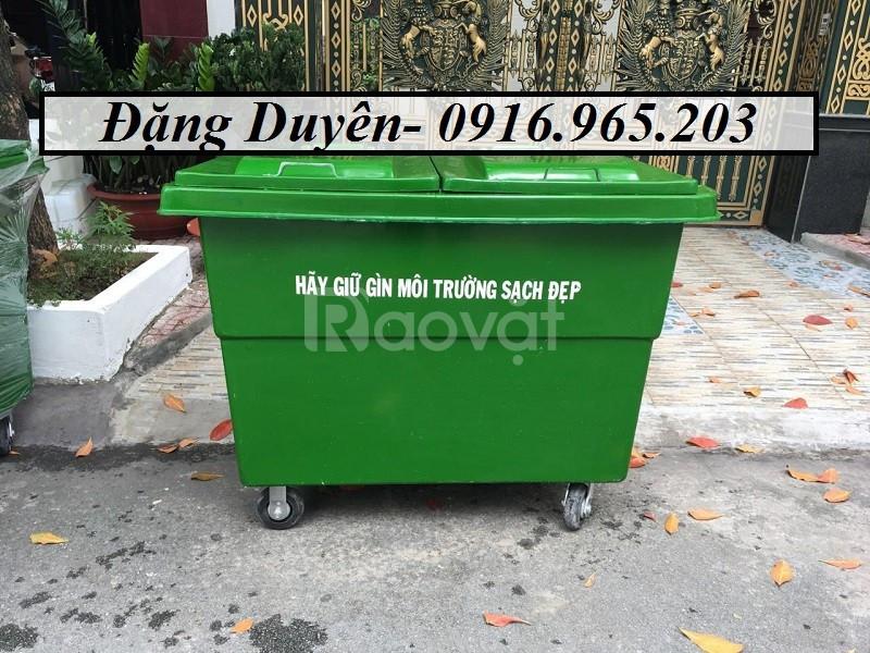 Thùng rác 660l nhựa composite (ảnh 4)