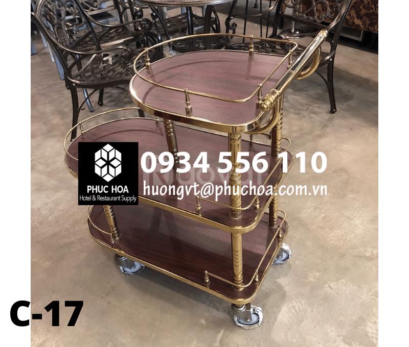 Xe đẩy đồ ăn nhà hàng khách sạn - Hà Nội - 2020