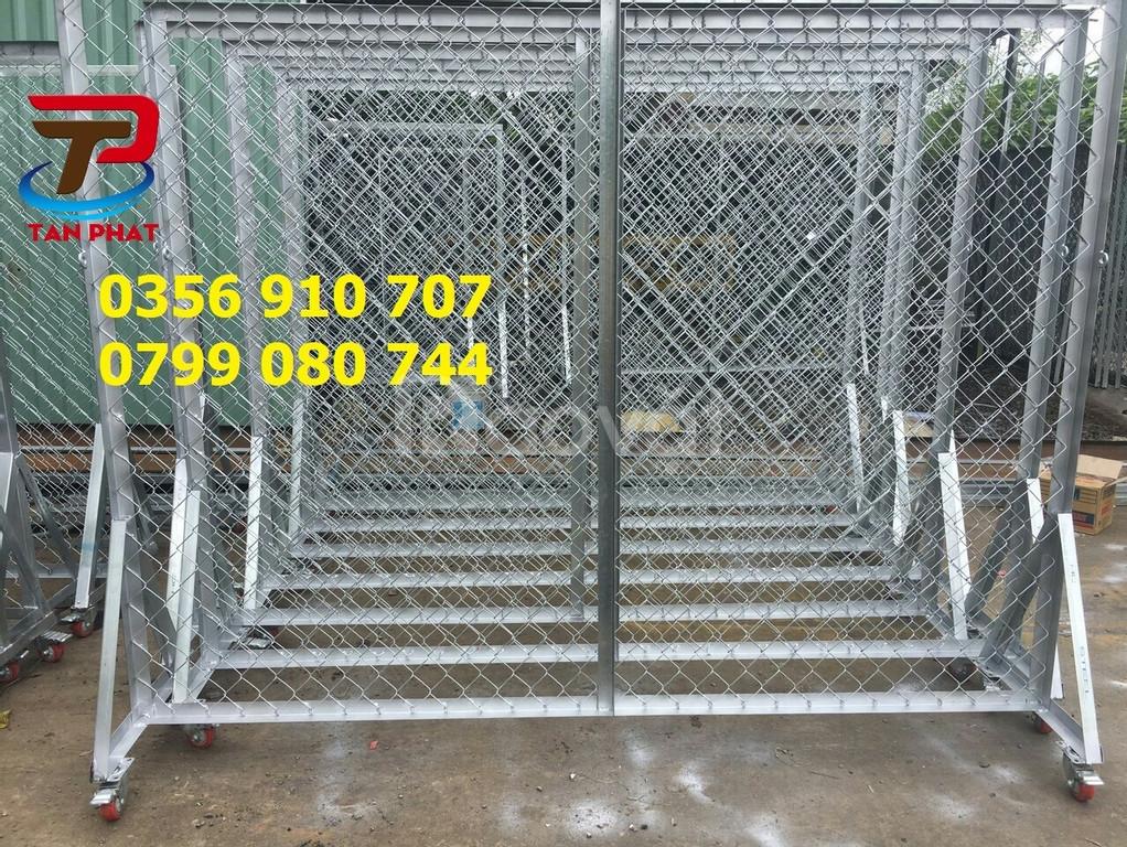 Hàng rào lưới chắn sóng, hàng rào lưới thép, hàng rào kho dây 4ly, 6ly