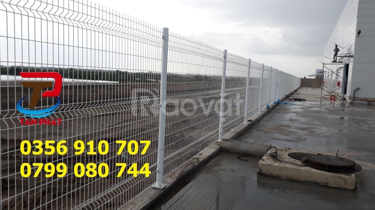 Hàng rào lưới thép mạ kẽm, hàng rào kho, hàng rào đẹp dây 5ly