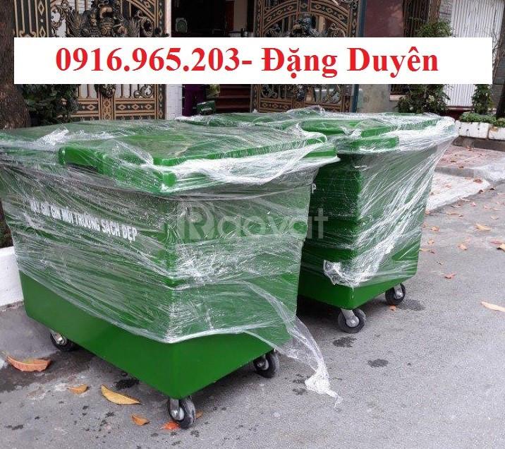Thùng rác 660l nhựa composite (ảnh 3)