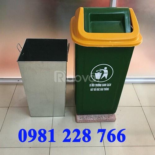 Đia chỉ cung cấp thùng rác nhựa đế đá tại Hà Nội