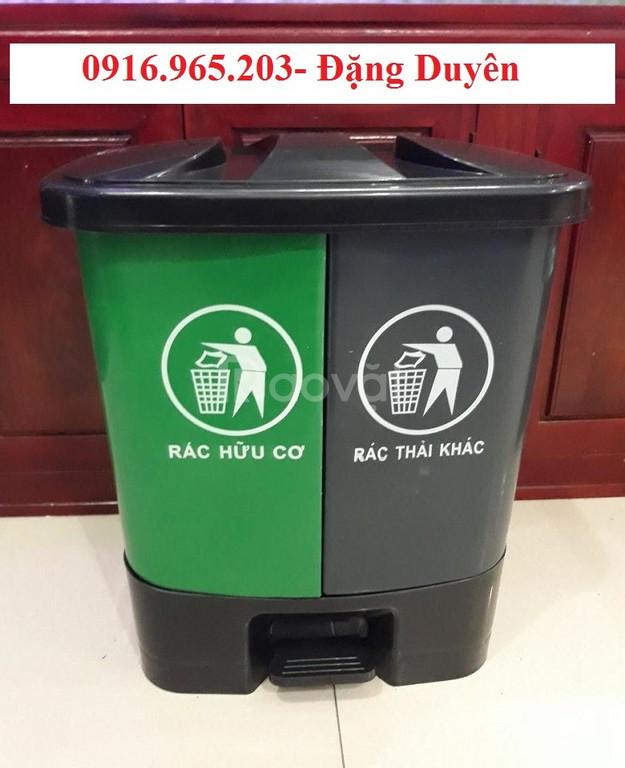 Thùng rác ngăn đôi 40 lít