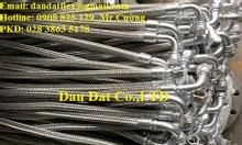 Ống nối mềm DN50, ống nối mềm inox, dây mềm inox chịu nhiệt cao