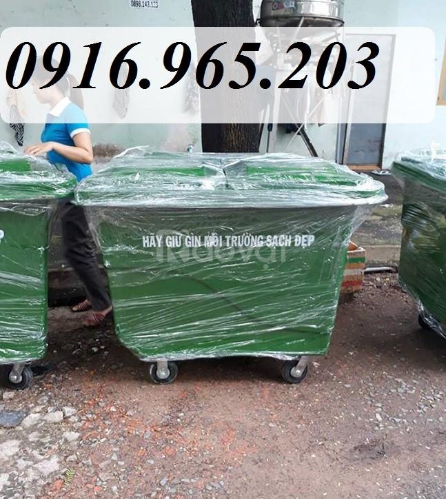 Thùng rác 660l nhựa composite (ảnh 5)