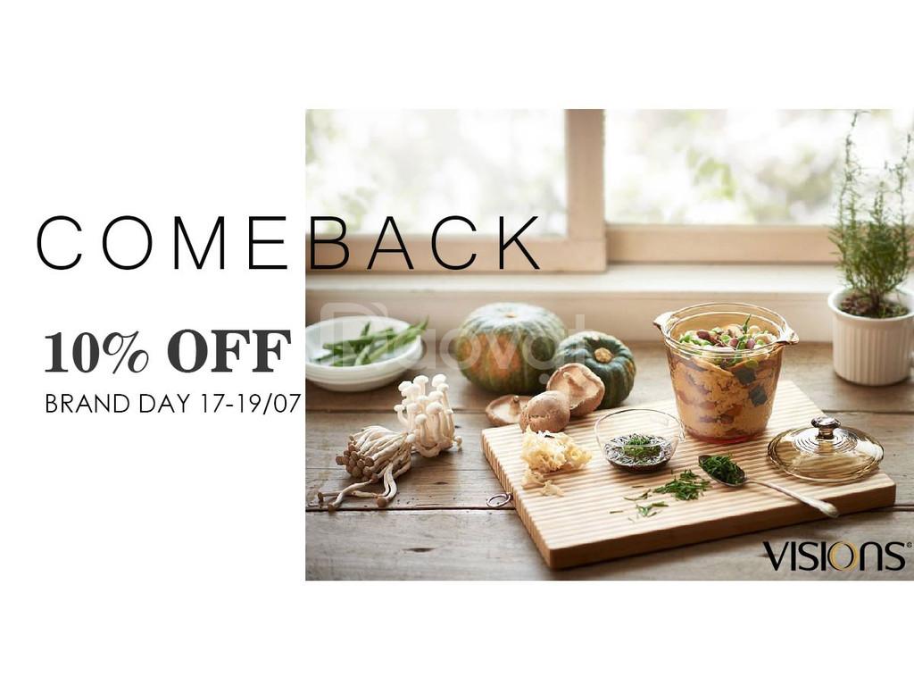 Nồi thủy tinh Visions VS-08 - Comeback Sale 10%
